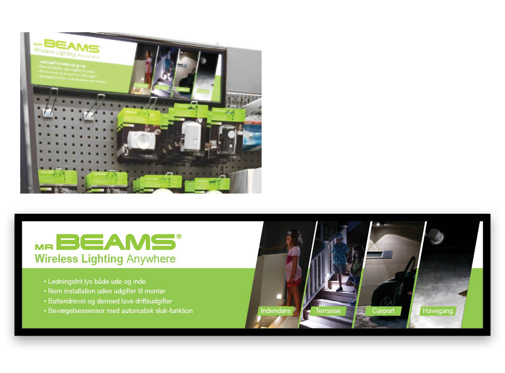 MR BEAMS · DISPLAYS · Salgs- og demodisplay løsninger