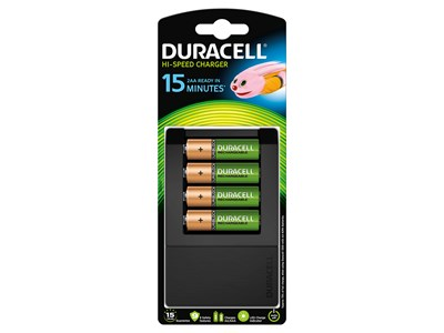 CHARGER DURACELL 15 MIN TIL AA/AAA