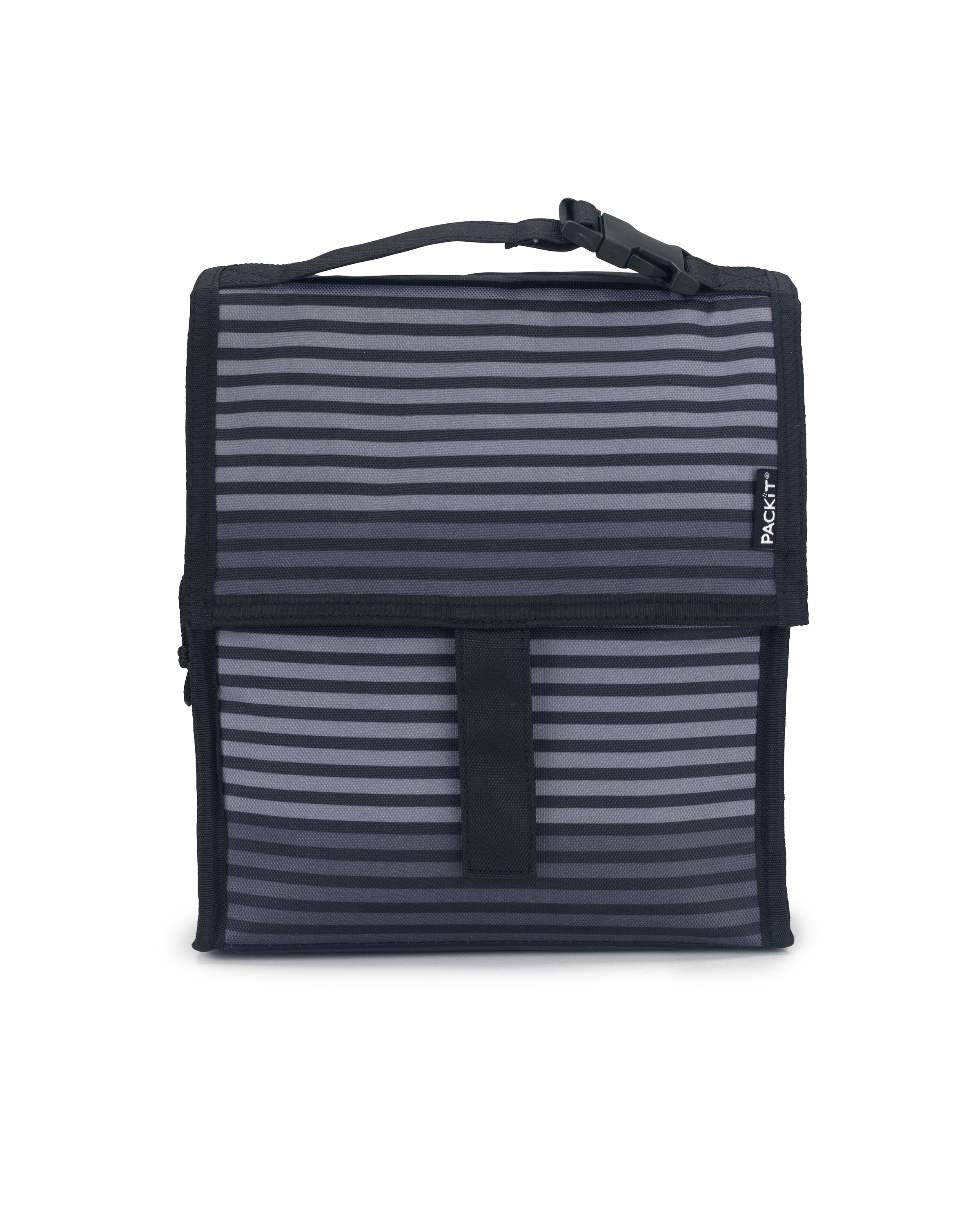 LUNCH BAG - GREY STRIPE - PACKIT