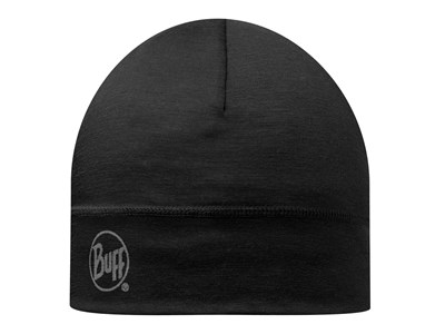 BUFF MERINO 1 LAYER HAT - BLACK - SOLID