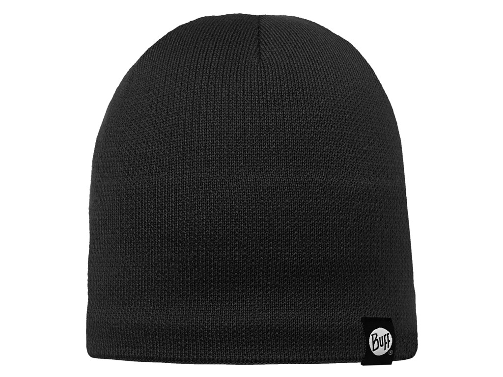 BUFF KNITTED & POLAR HAT - BLACK - SOLID
